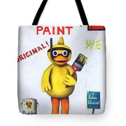 Duck Boy Paint Tote Bag by Leah Saulnier The Painting Maniac