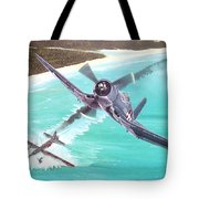 Duel Over New Georgia Tote Bag by Marc Stewart