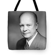 Dwight Eisenhower Tote Bag by War Is Hell Store