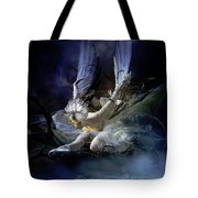Dying Swan Tote Bag by Mary Hood