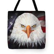 Eagle And The Flag Tote Bag by Arline Wagner