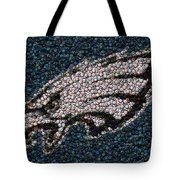 Eagles Bottle Cap Mosaic Tote Bag by Paul Van Scott