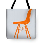 Eames Fiberglass Chair Orange Tote Bag by Naxart Studio