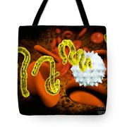 Ebola Virus Tote Bag by Victor Habbick Visions and SPL and Photo Researchers
