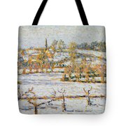 Effect Of Snow At Eragny Tote Bag by Camille Pissarro