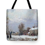 Effects Of Snow Tote Bag by Camille Pissarro
