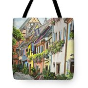 Eguisheim In Bloom Tote Bag by Charlotte Blanchard
