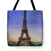 Eiffel Tower Paris France Tote Bag by Irina Sztukowski