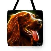 Electrifying Dog Portrait Tote Bag by Pamela Johnson