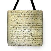 Emancipation Proc., P. 1 Tote Bag by Granger