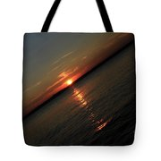 End Of An Off Balance Day Tote Bag by Karol  Livote