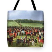 Epsom Races - The Betting Post Tote Bag by James Pollard