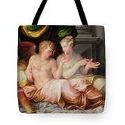 Eros And Psyche Tote Bag by Niccolo dell Abate