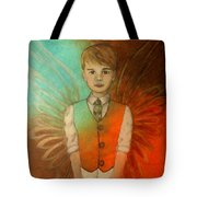 Ethan Little Angel Of Strength And Confidence Tote Bag by The Art With A Heart By Charlotte Phillips