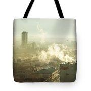 Evanescent Light On Fog Tote Bag by Lisa Knechtel