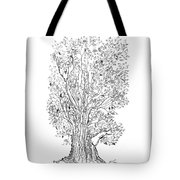 Evolutionary Tree Tote Bag by Regina Valluzzi