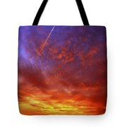 exploded sky Tote Bag by Michal Boubin