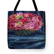 Fabric And Flowers Tote Bag by Sharon E Allen