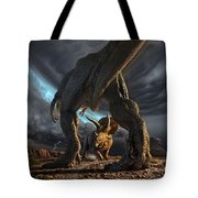 Face Off Tote Bag by Jerry LoFaro