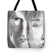 Faces Tote Bag by Arline Wagner