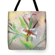 Faded Lilies Tote Bag by Arline Wagner