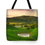 Fading Light At Round Valley Tote Bag by Marc Crumpler