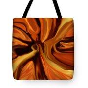 Fantasy In Orange Tote Bag by David Lane