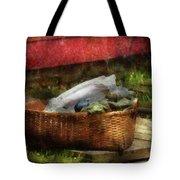 Farm - Laundry  Tote Bag by Mike Savad