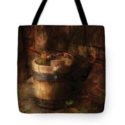 Farm - Pail - An old pail Tote Bag by Mike Savad