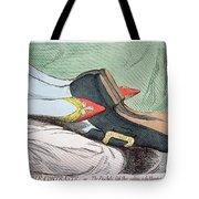 Fashionable Contrasts Tote Bag by James Gillray