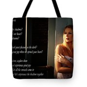 Fear Of Shadows Tote Bag by Clayton Bruster