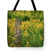 Fence Post7139 Tote Bag by Michael Peychich