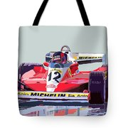 Ferrari 312 T3 1978 Canadian Gp Tote Bag by Yuriy  Shevchuk