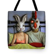 Fetish Nightmare Tote Bag by Leah Saulnier The Painting Maniac