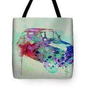 Fiat 500 Watercolor Tote Bag by Naxart Studio