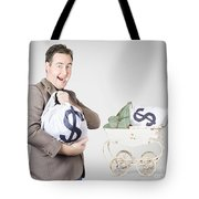 Finance And Money Growth Concept Tote Bag by Jorgo Photography - Wall Art Gallery