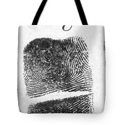 Fingerprints Of Vincenzo Peruggia, Mona Tote Bag by Photo Researchers