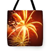Fire in the Trees Tote Bag by Phill  Doherty