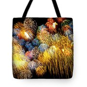 Fireworks Exploding  Tote Bag by Garry Gay