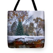 First Colorful Autumn Snow Tote Bag by James BO  Insogna