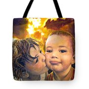 First Kiss Tote Bag by Michael Durst