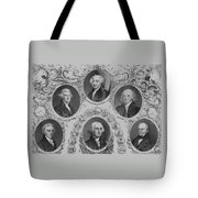First Six U.S. Presidents Tote Bag by War Is Hell Store