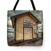 Fish Shed Tote Bag by Wayne Sherriff