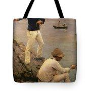Fisher Boys Falmouth Tote Bag by Henry Scott Tuke