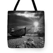 fishing boat graveyard 7 Tote Bag by Meirion Matthias
