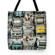 Fishing - Fishing Reels Tote Bag by Paul Ward