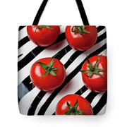 Five Tomatoes  Tote Bag by Garry Gay