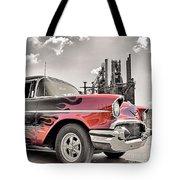 Flamin' 57 Tote Bag by DJ Florek