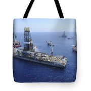 Flaring Operations Conducted Tote Bag by Stocktrek Images
