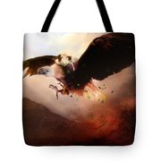 Flight Of The Eagle Tote Bag by Mary Hood
